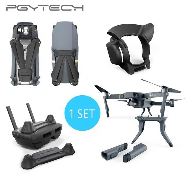 PGYTECH 1 комплект пульт дистанционного управления и бленда объектива & посадочная Шестерня & моторчик с пропеллером капот для DJI Mavic Pro в комплекте продажа