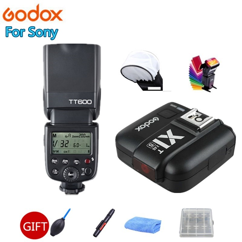 Godox TT600S GN60 2.4G HSS Camera Flash Speedlite + X1T-S Transmitter Trigger for Sony Camera A7 A7S A7R A7 II A6000 A58 A99 pixel x800s standard gn60 hss ttl flash speedlite 2pcs king pro 2 4g flash trigger transceivers for sony a7 a7s a7r a7rii