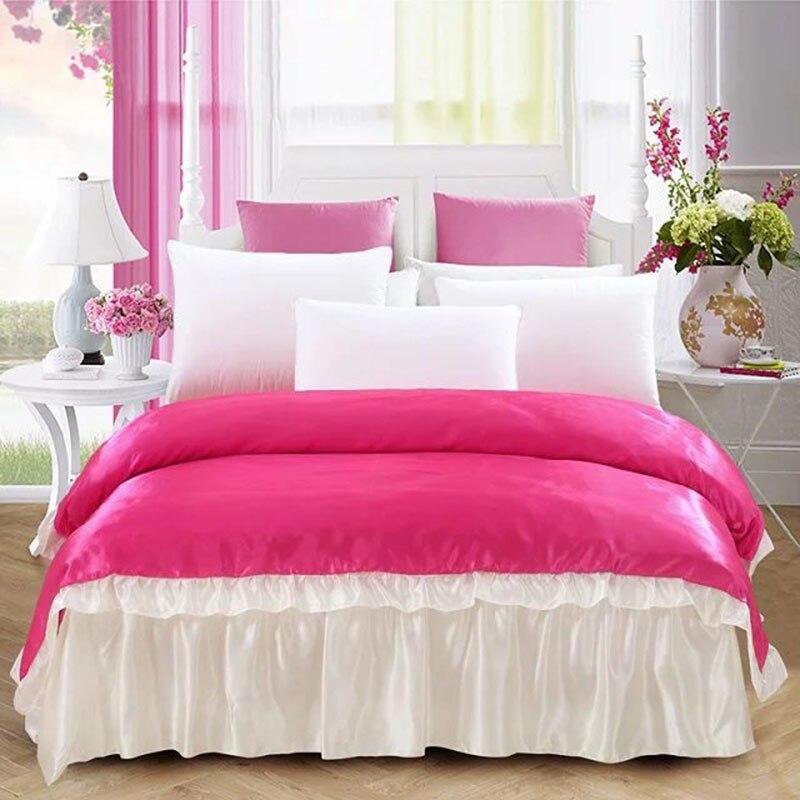 Grande de lujo de Textiles Para El Hogar de Satén de Seda de tela ropa de cama f