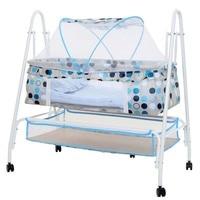 Baby Cradle Bed Baby Multifunctional Small Child Cradle Bed Hammock Swing Wheels