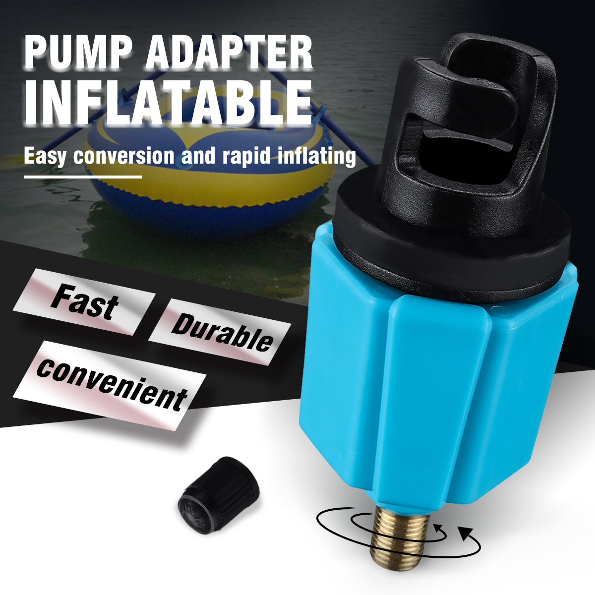 1 PC Inflatable Fish Boat SUP Pump Adaptor With Standard Schrader Conventional Air Pump Air Valve Adapter Spoke Attachment
