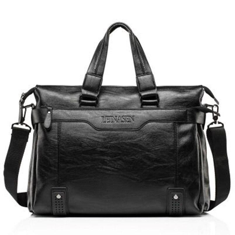 ФОТО Hot sale!!2016 New Soft Leather Men Bag Briefcase Handbag Brand Designer Men Shoulder Bag Laptop Bag Casual Fashion Business bag