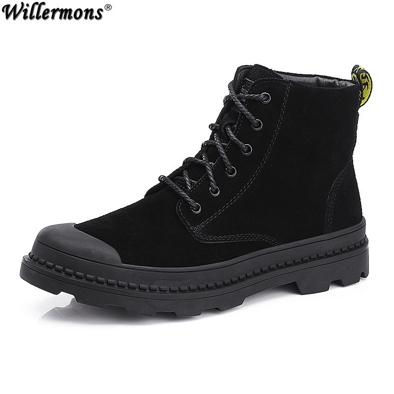 Winter Military Men's Outdoor Warm Cotton Safety Boots Men Army Suede Leather Snow Ankle Boots Shoes Botas Hombre winter men s outdoor warm cotton hiking sports boots shoes men high top camping sneakers shoes chaussures hombre