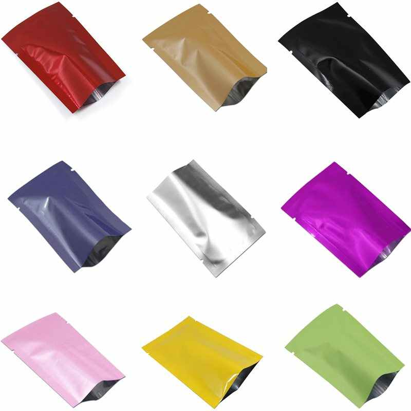 300 Pcs 6x9 centímetros Colorido Folha De Alumínio Saco de Embalagem saco de Armazenamento De Café Snack Food Grade Mylar Bolsa Aberta top Saco de Vácuo Selo de Calor