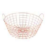 1pc Storage Basket Simple Iron Wire Iron Art Modern Storage Basket Organizer for Sundries Snack Fruit Vegetable
