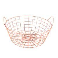 1pc Storage Basket Simple Iron Wire Iron Art Modern Storage Basket Organizer for Sundries Snack Fruit Vegetable
