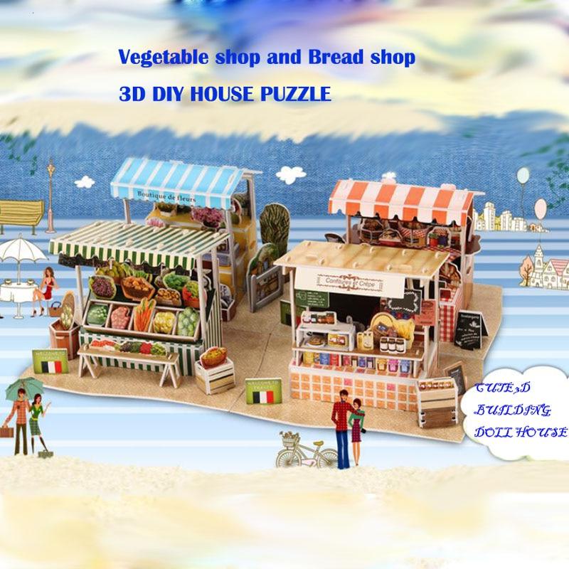 3D papir kuća zagonetka za djecu smiješno 3d zagonetke DIY djeca - Igre i zagonetke - Foto 3