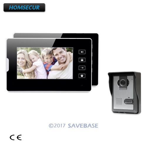HOMSECUR 7 Wired Video Security Door Phone Electric Lock Supported for Home SecurityHOMSECUR 7 Wired Video Security Door Phone Electric Lock Supported for Home Security