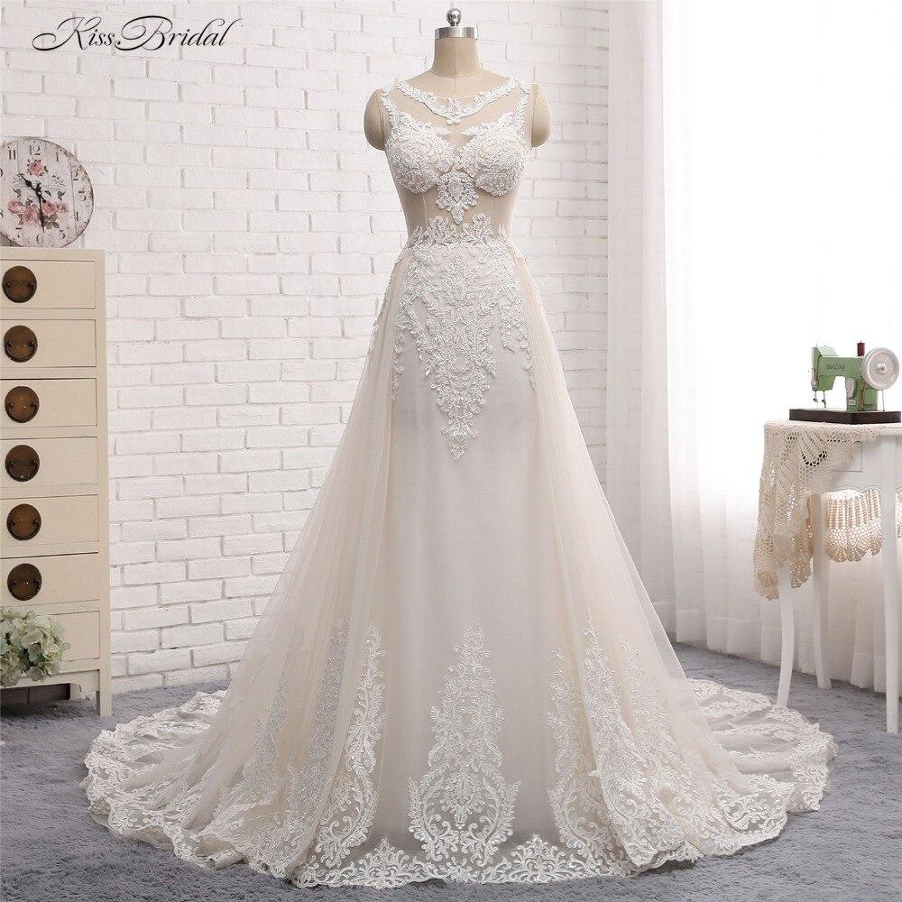 Modest Ball Gown Wedding Gown Dresses robe de mariage 2017 Boat Neck Appliques Gelinlik Vestido de noiva 2017 Bridal Gowns