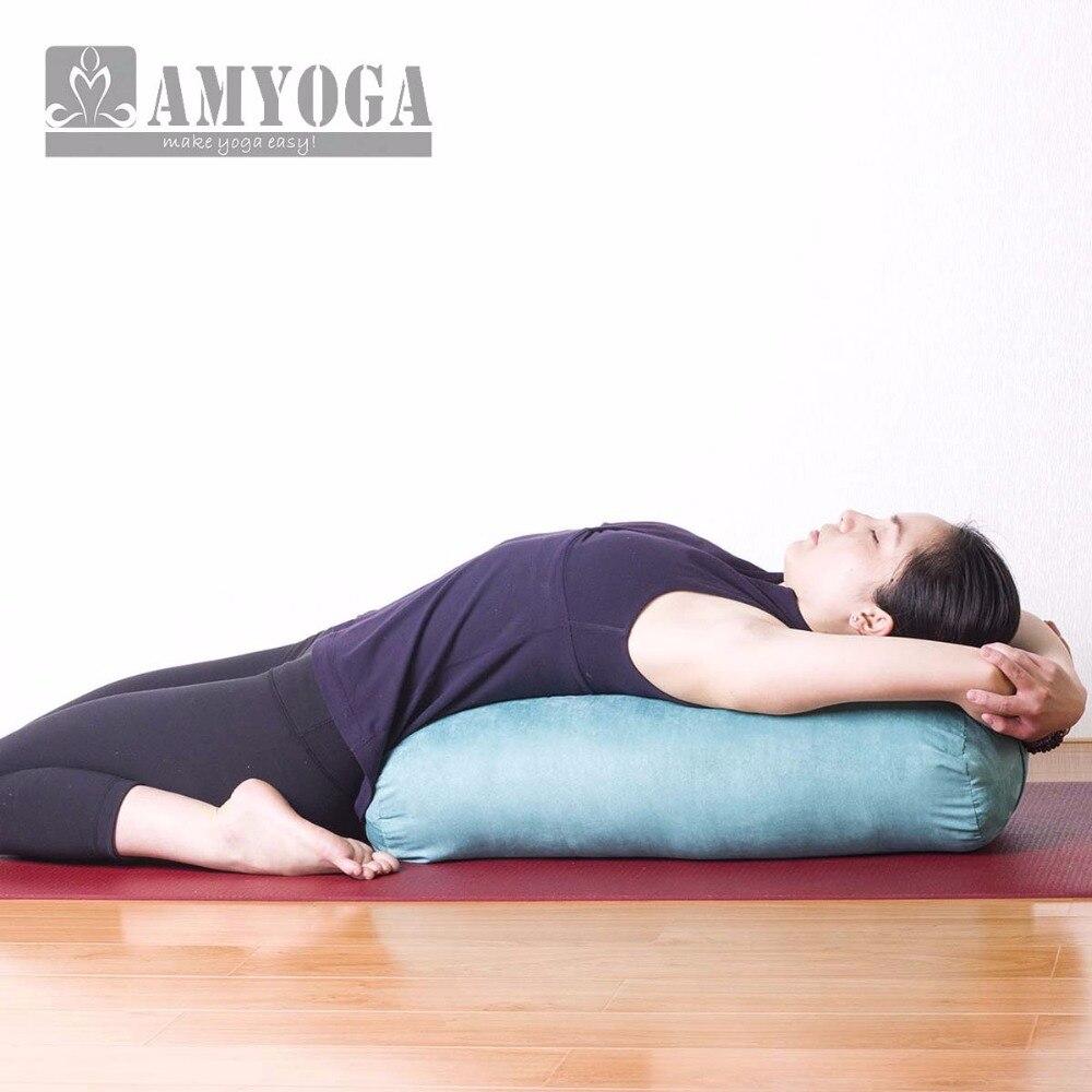 new high elastic strong support comfortable yoga pillow yoga bolster yoga - Yoga Bolster
