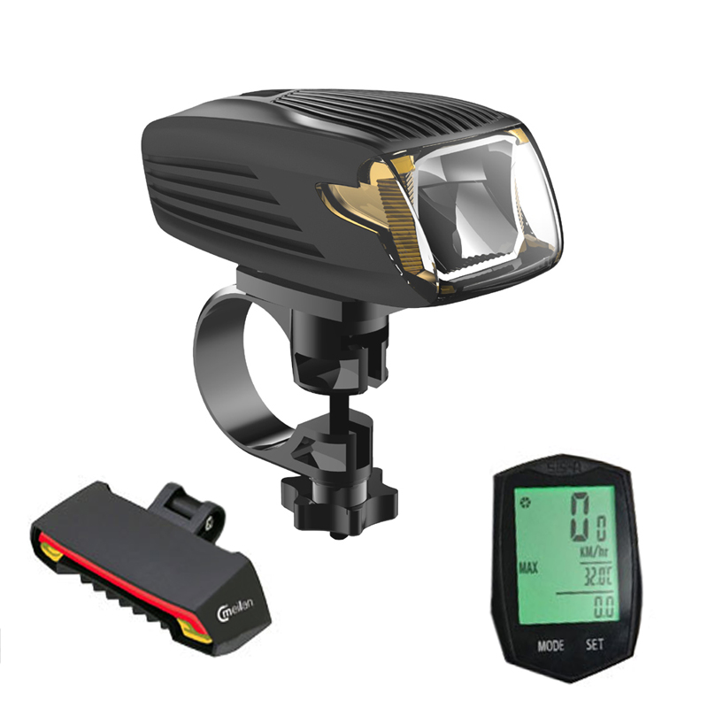 Bike Computer Speedometer stopwatch&Cmeilan X5 Rear lamp Cycling tail lights&Meilan X1 Smart Bicycle Light Bike Led Front Light cycling bicycle accessories kit 5000lm t6 flashlight bicycle rear tail lights stopwatch bike tube bag bell bracket