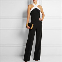 Leakage Shoulder Jumpsuit New Fashion Women Backless Matching Collect Waist Party Wide Leg Long Playsuits Plus Size Overalls 3XL