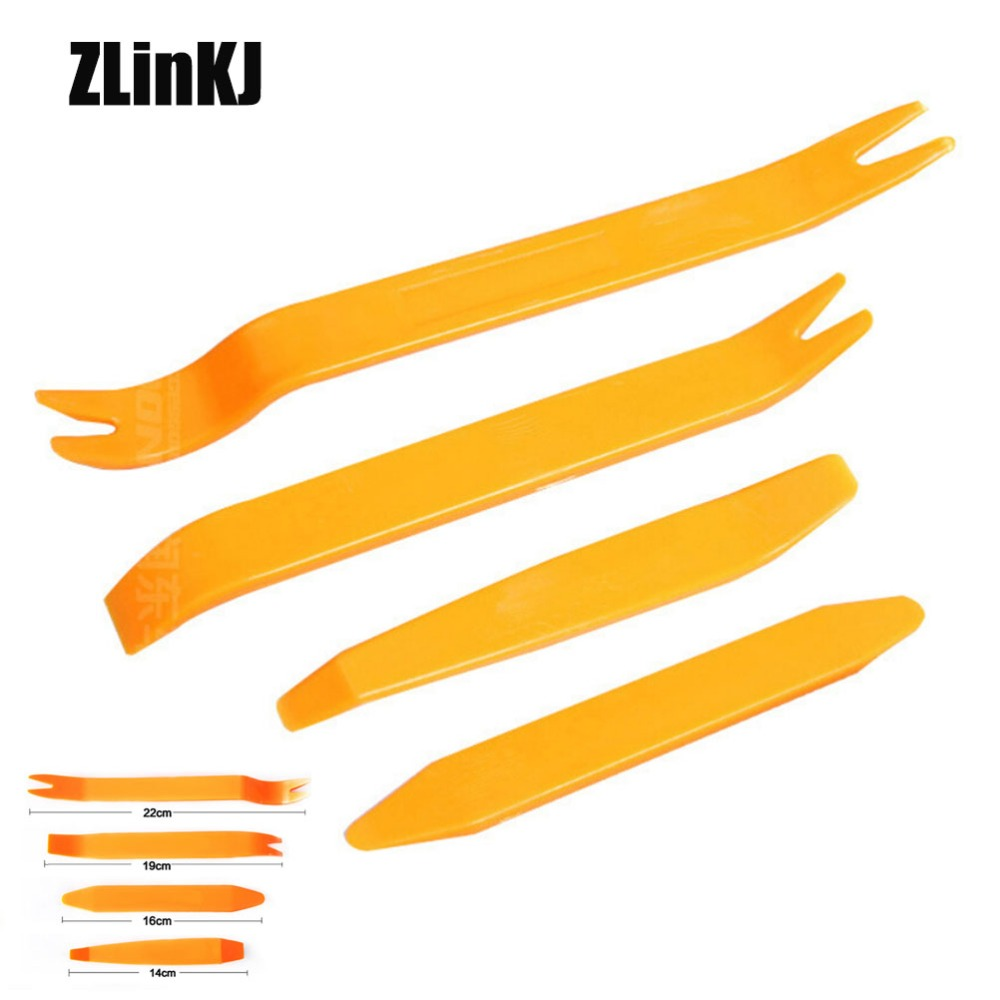 4Pcs/Set Good Usage Car Disassembly Interior Kit Audio Removal Trim Panel Dashboard Car DVD Player Auto Removal Hand Tool