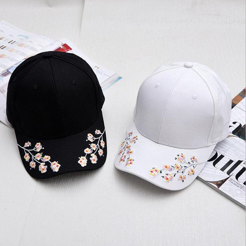 High quality fashion Summer Floral Baseball Cap Women hip hop Hats Casquette Adjustable Hat Flower embroidery Snapback Gorras