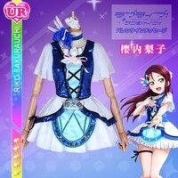 Anime Love Live!Sunshine!! Aqours Sakurauchi Riko Blue New World Uniforms Cosplay Costume Free Shipping