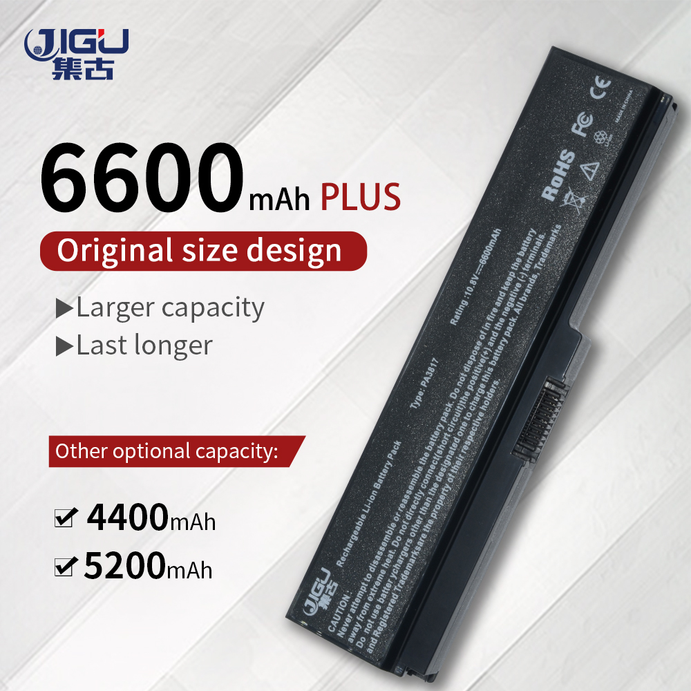 JIGU Laptop Battery For Toshiba Satellite A660 C640 C650 C655 C660 L510 L630 L640 L650 U400 PA3817U-1BRS PA3816U-1BAS