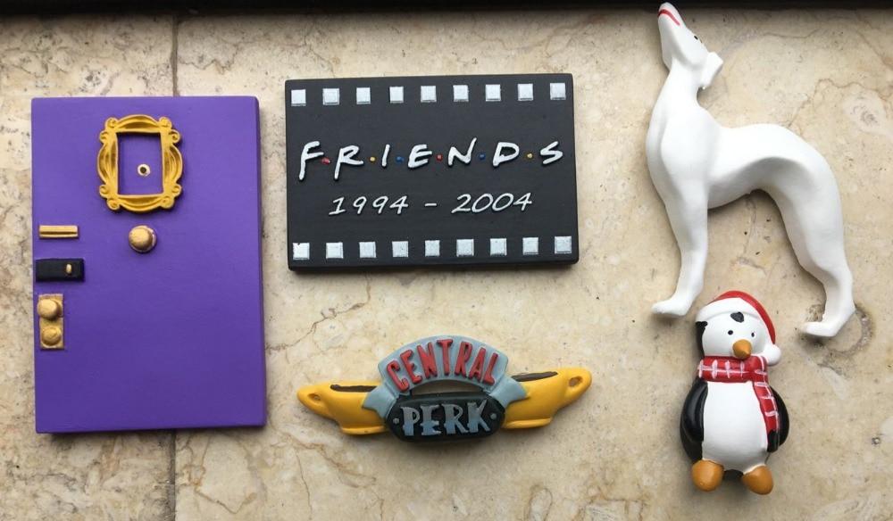 New Friends Monica Door Photo Frame Central Perk hugsy Big white dog Resin Refrigerator Stickers Magnets|magnet magnet|magnet white|magnet sticker - title=