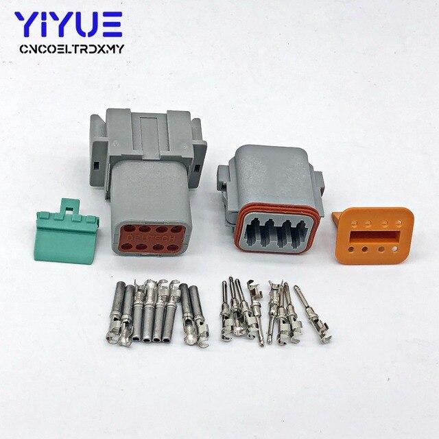 c985fecb401c20 1 Sets Deutsch DT 8 Pin Connector Kit Gray Waterproof electrical Connector  DT06-8S DT04-8P