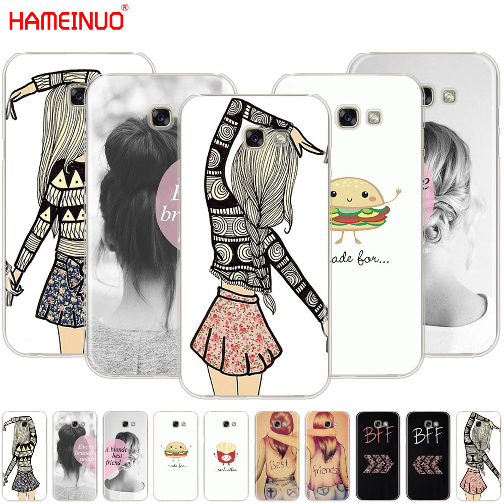 HAMEINUO Best Friends Emoji cell phone case cover for Samsung Galaxy A3 A310 A5 A510 A7 A8 A9 2016 2017 2018 Сотовый телефон