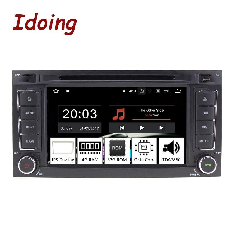 Idoing 7 2Din Voiture Android 8.0 Radio Lecteur Pour VW/Volkswagen Touar PX5 4 gb + 32g huit Core IPS écran GPS Navigation Multimédia