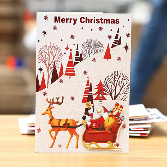 Merry christmas small greeting cards kids mini christmas greeting merry christmas small greeting cards kids mini christmas greeting cards new year postcard gift card m4hsunfo