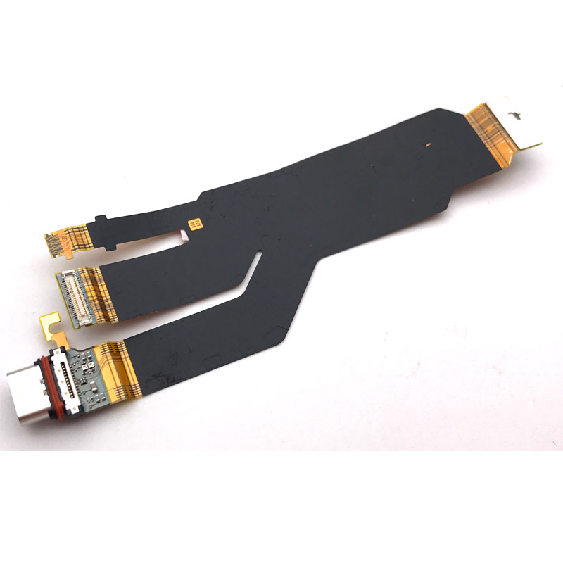 Original Type-C USB Type-C Charging Charger Port Dock Connector With SUB Motherboard Flex Cable For Sony Xperia XZ F8332 Reparts