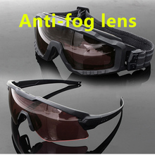 SI M Frame ALPHA Anti-fog Ski sunglasses cycling sun military goggles  Army tactical glasses Men shooting eyewear Gafas 4 lens