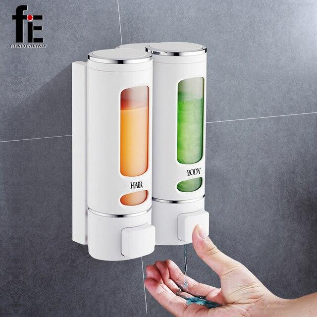 FiE 400 ml Distributeur de Savon Mural Douche Bain Shampooing