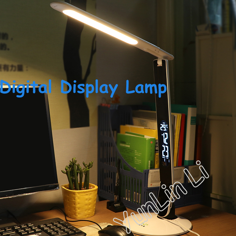 где купить LED Digital Display Desk Lamp Touch The Three - Level Dimming Eye Protection LED Study Reading Desk Lamp 12V по лучшей цене