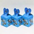 Mickey mouse 10 unids/lote caja del caramelo de la decoración del partido decoración del partido del feliz cumpleaños regalo de carga suministros niño bebé ducha favor