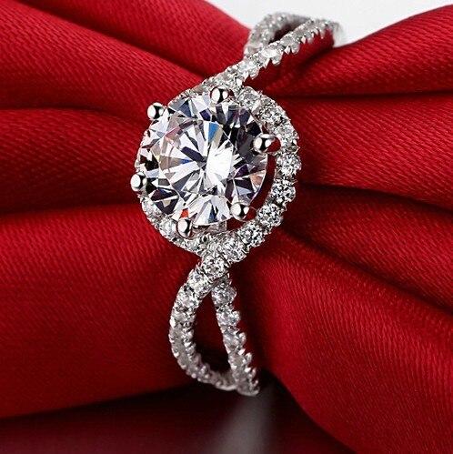 1Ct Forma della Pianta di Alta Qualità In Argento Sterling 925 Anello di Diamanti per Le Donne Classico di Anniversario Dei Monili del Regalo-in Anelli da Gioielli e accessori su  Gruppo 3