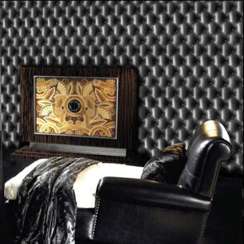 ФОТО beibehang wallpaper Leather black classic wall paper vinyl Designer Cushion headboard effect living room bedroom contact paper