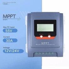 MPPT 30A Контроллер заряда 12 В/24 В Авто Панели солнечные Батарея регулятор с ЖК-дисплей Дисплей реальном времени по статистике энергетики