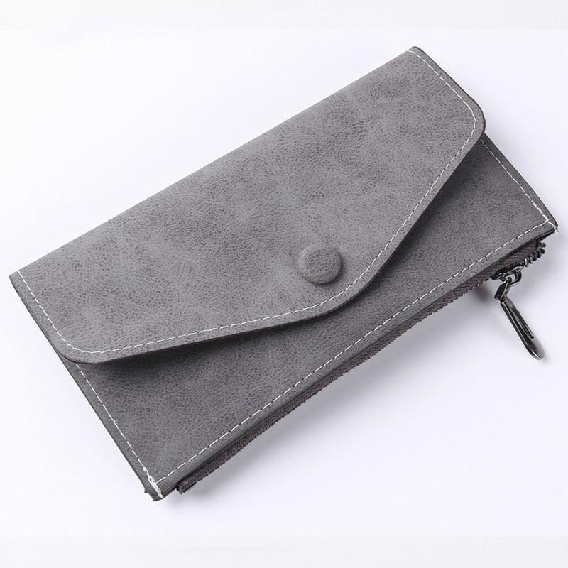 2018 Luxury Women Wallet PU Leather Long Solid Zipper Wallet Money Bag Coin Purse Female Credit Card Holder Long Lady Clutch 2