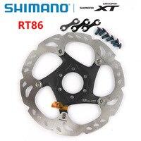 Shimano xt sm rt86 tecnologia ponto de gelo disco freio 6 parafuso m8000 mountain bikes disco shimano rt86 160mm 180mm mtb Freio da bicicleta    -
