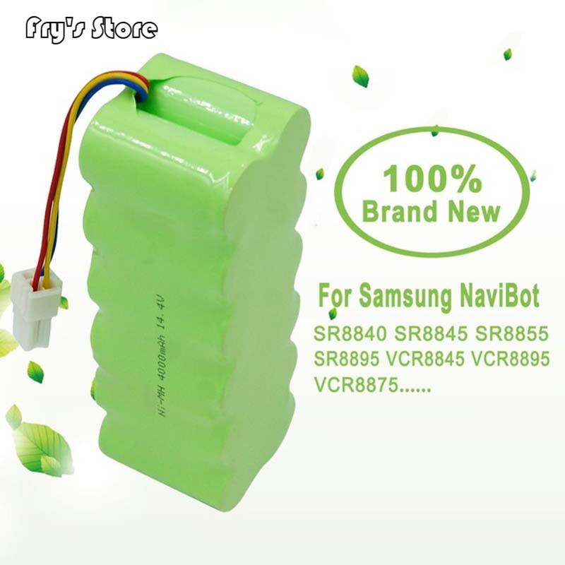 14.4V 4000 MAh NI-MH Vacuum Rechargeable Battery 4.0 Ah For Samsung NaviBot SR8840 SR8845 SR8855 SR8895 VCR8845 VCR889