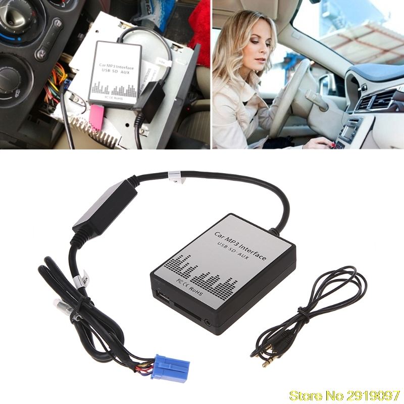 USB SD AUX автомобиль MP3 Музыка Радио Цифровой cd-чейнджер Adapte для Renault 8pin Clio Avantime мастер Modus Дейтон Интерфейс
