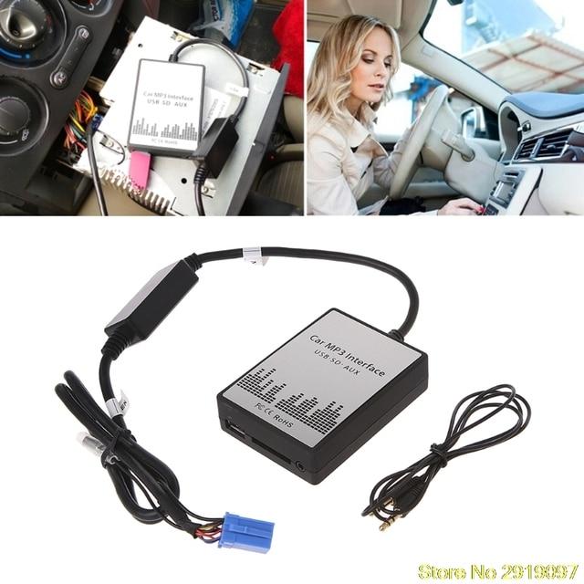 USB SD AUX Car MP3 Music Radio Digital CD Changer Adapte For Renault 8pin Clio Avantime Master Modus Dayton Interface