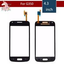 цена на 10pcs/lot For Samsung Galaxy Core Plus 4.3 SM-G350 G350 G3502 Touch Screen Digitizer Sensor Outer Glass Lens Panel Replacement