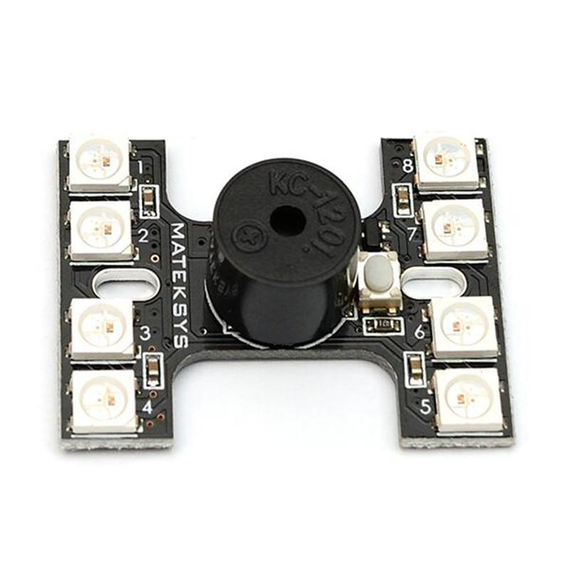 New Arrival Matek LED Tail light WS2512B With Loud Buzzer Dual Modes For FPV Racer Multicopters