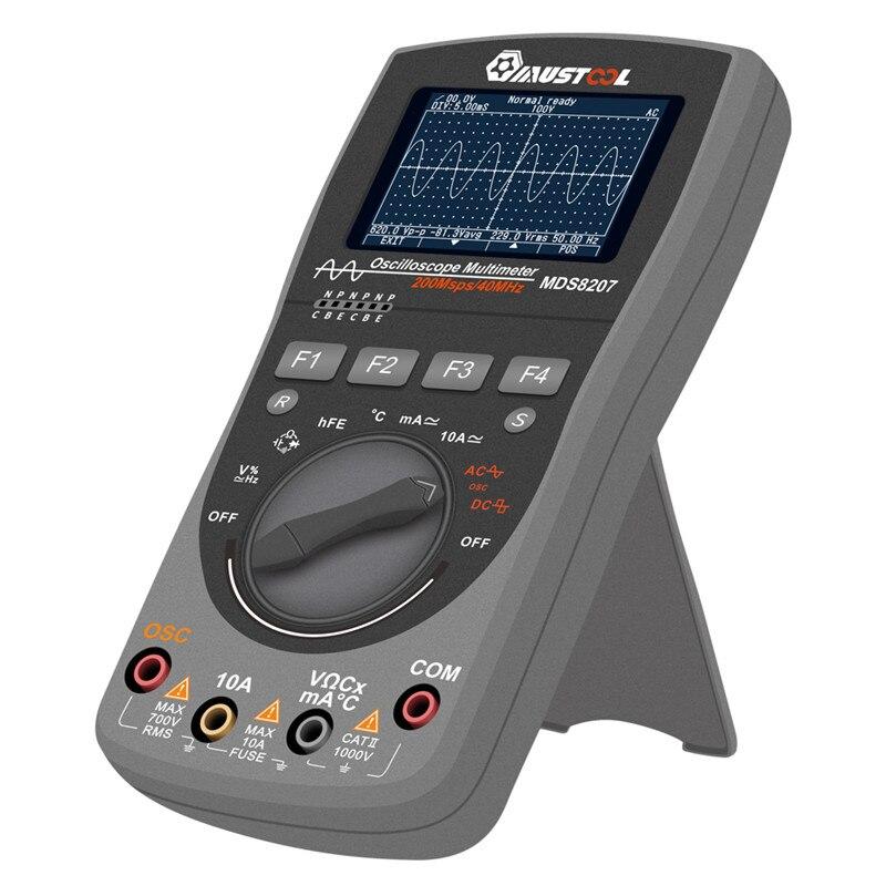 MUSTOOL actualizado MDS8207 inteligente 2 en 1Digital 40MHz 200 Msps/S osciloscopio 6000 cuenta multímetro RMS verdadero con Grap analógico - 4