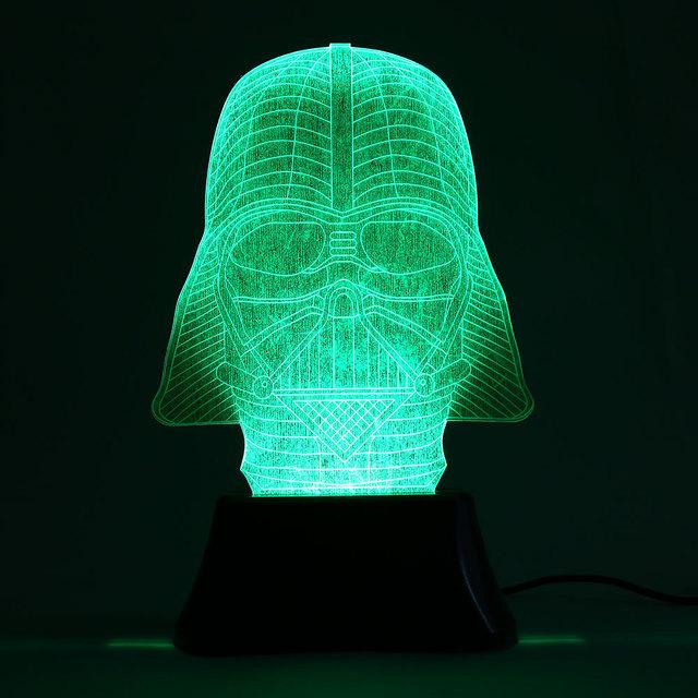 Darth Vader de Star Wars 3D 6 LEVOU Mudança de Cor de Luz Do Quarto de Iluminação Da Lâmpada de Mesa