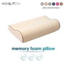 Colorful Memory Foam Neck Pillow Orthopedic Bedding Pillows Health Care Bamboo Fiber Cervical Pillows Comfort Sleeping Pillow