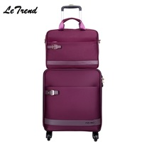 16/18/20/22/24 Inch Oxford Rolling Luggage Spinner Travel Luggage Hand Trolley Men Boarding Suitcase Large Capacity Travel Bag