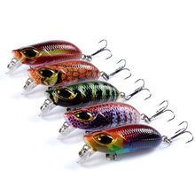minnow Color painting 5.8cm/7g Slow sinking Fishing Tackle 3D bionic eye Hard Lure The three hook Artificial bait