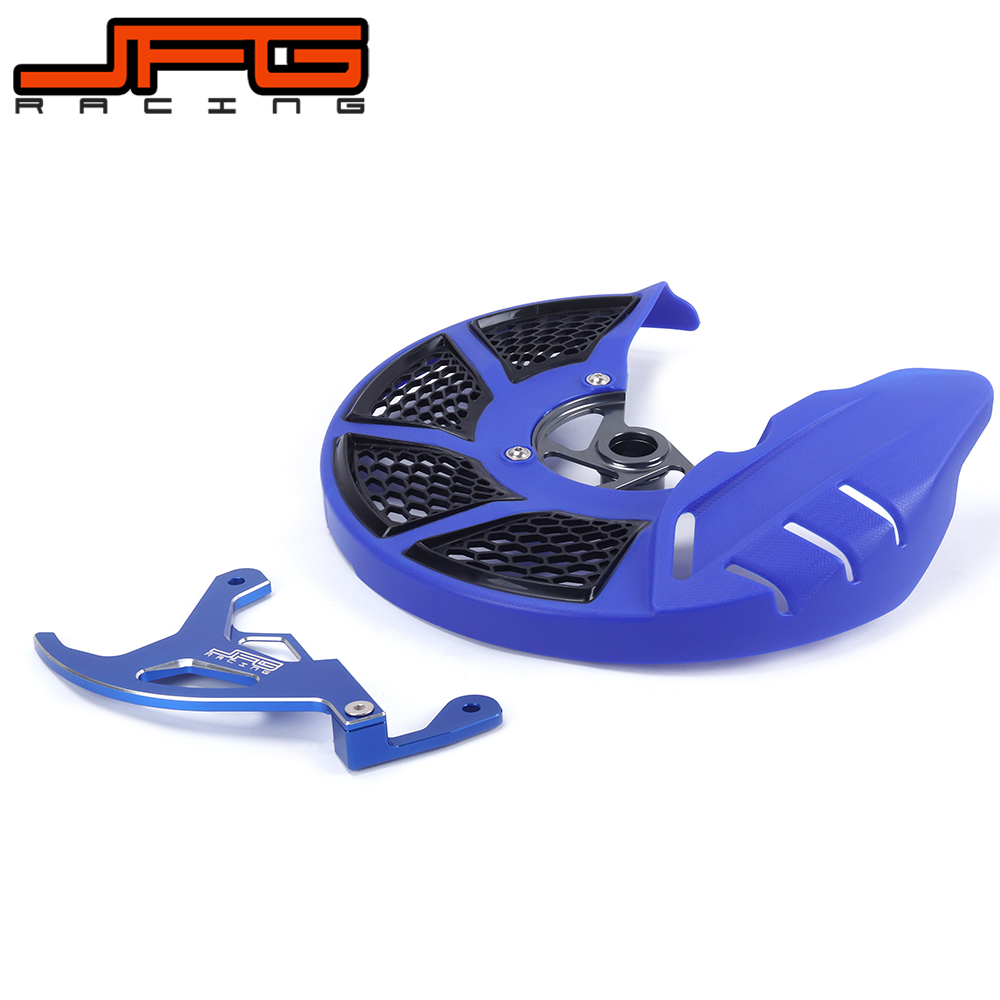 A Set Front & Rear Brake Disc Rotor Guard Protective Cover For YAMAHA YZ250F YZ450F YZF 250CC 450CC YZF 2014 2015 2016 2017 motorcycle x brake front brake disc cover for yamaha yz250f yz450f 2007 2013 blue