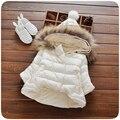 Novo de alta qualidade confortável macio Meninas de Inverno Com Capuz Para Baixo Casaco Bebê Crianças 3 Cores Engrossar Parkas Roupas Casaco Roupas Quentes