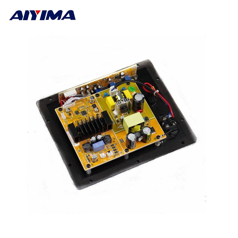 New Assembly High Power 100W Digital HIFI Subwoofer Amplifier Board active subwoofer amplifiers board new arrival tpa3116d2 50wx2 100w 2 1 channel digital subwoofer amplifier board 12v 24v power free shipping