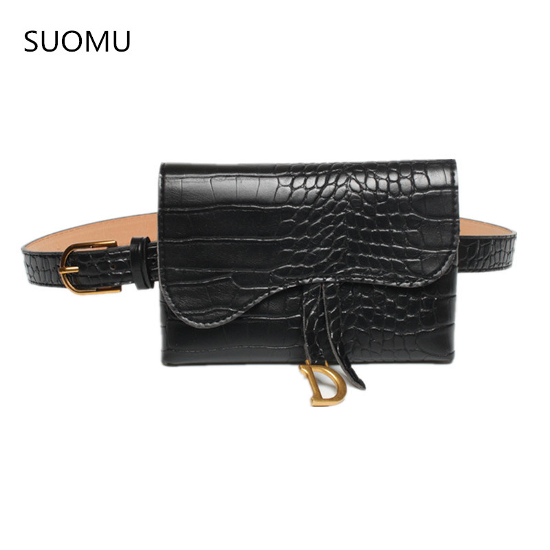 Waist Bag Belt Bag Bucket Fanny Pack Animal Print Serpentine Small Bag Women Girls Ins Fashion 2019 New Drop Shipping