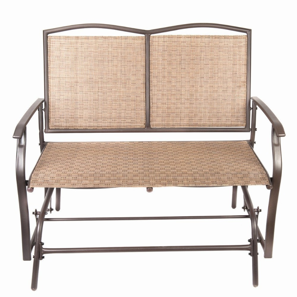 Pleasing Naturefun Patio Swing Glider Bench Chair Garden Glider Pabps2019 Chair Design Images Pabps2019Com